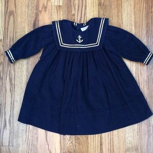 Other - Navy corduroy long sleeve dress